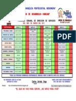 Programa Semanal de Dirección de Servicios Agosto 2012