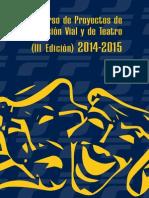 Concurso Proyectos Educacion Vial 2014 2015