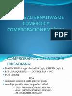 Teorías Alternativas de Comercio y Comprobación Empírica