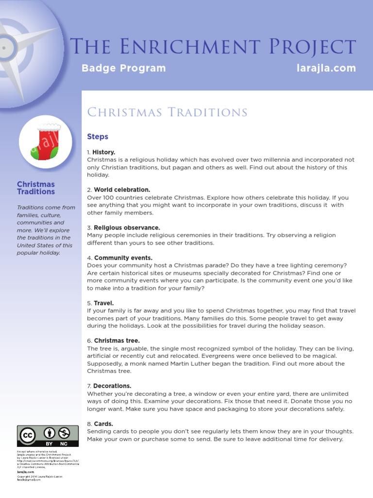 Badge: Christmas Traditions   Christmas And Holiday Season   Christmas