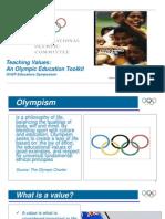 Teaching Values Presentation 5 Olympic Educational Values