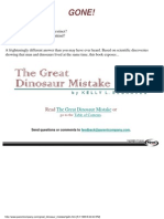 The Great Dinosaur Mistake