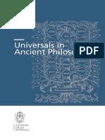 Chiaradonna Galluzzo Universals Ancient Philosophy-libre