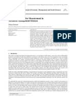 Different Methods for Measurement in Advanced Management Sciences