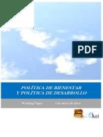 POLITICA DE BIENESTAR Y POLITICA DE DESARROLLO