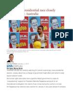 Sri Lanka's Presidential Race Closely Monitored by Australia