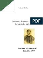 Leinad Rayles, Ramiro de Maeztu y Whitney.Semblaza biobibliografica