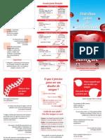 Folder Doação de Sangue