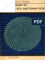 Gheorghe Gussi - Itinerar in Analiza Matematica, Ed Albatros (1970)