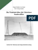 H. Frhr. von Greim - Die Wahrheit über die Gleiwitzer Senderaffäre (2009, S. 10)