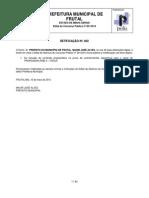 2ª Retificação Edital de Abertura Concurso 001 2014 PMF