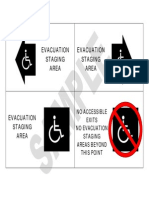 Evacuation Staging Are a Signage
