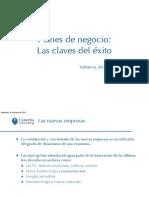 Planes de negocio - Las claves del éxito - Valencia
