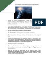 Lightning Safety Tips Spanish