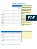 Excel Time Management Todo