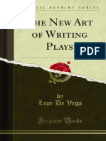 The New Art of Writing Plays