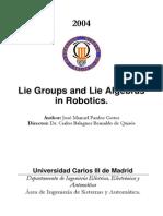 Lie Groups and Lie Algebras in ROBOTICS v1