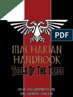 Macharian Handbook - Tools of the Trade