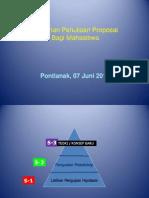 Materi Pelatihan Penulisan Proposal Program Kreativitas Mahasiswa Penelitian (PKMP)