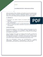 Diplomado en Administración Virtual - Temario