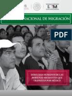 dh personas migrantes transitan mexico