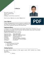 CV of Md. Atik Ullah Bhuiyan ExSS