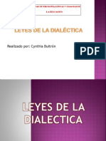 Leyes de La Dialéctica Cintya Buitron