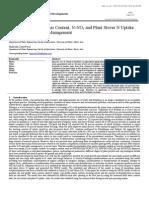 Estimation of Soil Water Content, N-NO3 and Plant Stover N Uptake for Urea Fertilization Management