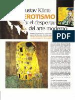 Gustav Klimt, Erotismo y Arte