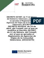 Decreto Agencia Viajes Refundido Comunitat Valenciana
