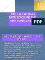 Foreign Exchange Rate Exposure &Risk Managemetn