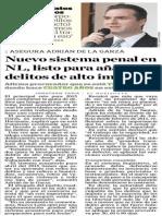19-12-2014 Nuevo sistema penal en NL, listo para añadir delitos de alto impacto