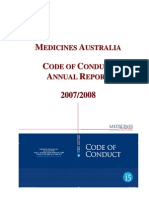 Code of Conduct 2008 Annual Report