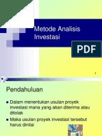 1Metode Analisis Investasi