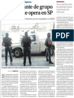 30-12-2014 Cae integrante de grupo delictivo que opera en SP
