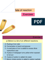 Exercises Rate of Reaction