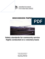 Safety standards for community service flights conducted on a voluntary basis