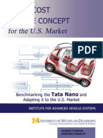 A Low Cost Vehicle Concept for the U.S. Market