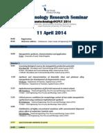 Nano Seminar 11April2014 Provisional 25 March 2014