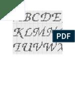 Alphabet Chart Capital Letter