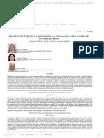 Principios Éticos y Valores en La Formación Del Docente Universitario