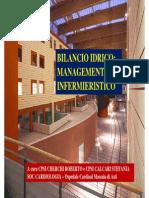 BILANCIO IDRICO , Management infermeristico