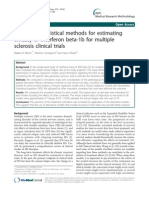 BMC Medical Research Methodology Volume 11 Issue 1 2011 [Doi 10.1186%2F1471-2288!11!80] Makiko N Mieno; Takuhiro Yamaguchi; Yasuo Ohashi -- Alternative Statistical Methods for Estimating Efficacy of Interferon Beta-1b