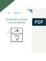 Top 10 Reasons to Choose Dynamics CRM
