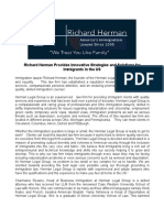 Richard Herman Provides Innovative Strategies and Solutions for Immigrants in the US
