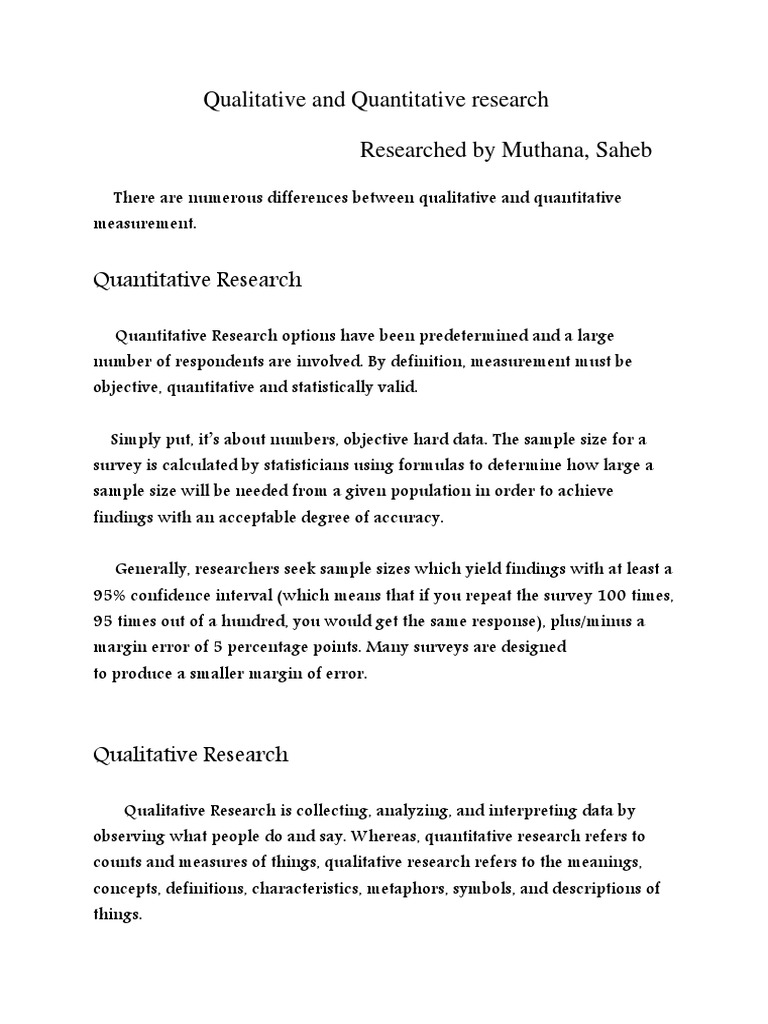 qualitive and quantitive | qualitative research | quantitative research