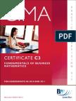 C3 FundamentalsOfBusinessMathematics Revision