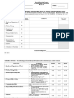meas 219 professionalism grade sheet