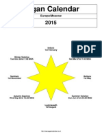 Pagan Calendar 2015