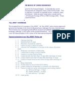 Basics of Cargo Insurance